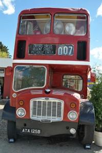 Double Decker Coffee Bus In Red Deer